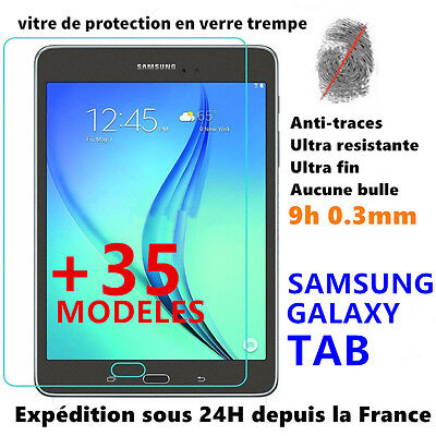 Vitre protection écran film verre trempé SAMSUNG GALAXY TAB A Pro/E/S 2 Tablette