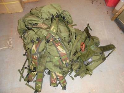 British Army Issue Soldier 90 Olive Green PLCE Webbing Side Pouch & DPM Yoke Set