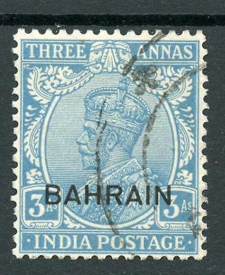 Bahrain 1933 3a blue SG7 FU cat £75