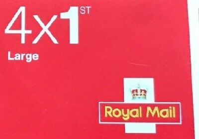 Royal Mail Stamps 1st Class Large Book Of 4 New