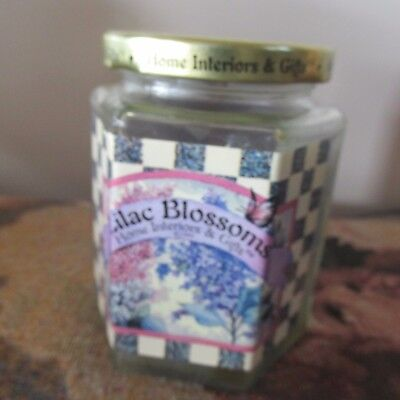Home Interiors Homco 14 oz 'Lilac Blossoms' Candle  NEW