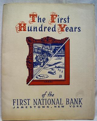 First National Bank Jamestown Ny 100 Years Souvenir Brochure 1953 Vintage