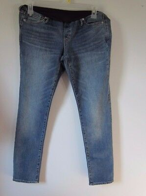 GAP 1969 Authentic Straight Full Panel Maternity Jeans Womens Size 28/6  New Nwt