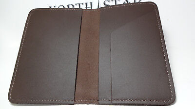 North Star Brown Top-Stub Soft Leather Checkbook Cover-USA Made F. Second  #131