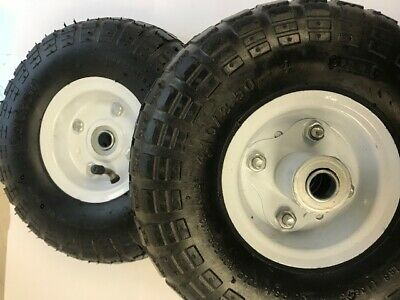 "2X10"" Pneumatic Sack Truck Trolley Wheel Barrow Tyre Tyres"