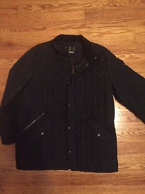 Brand New Mens Black Barbour Flyweight Chelsea Quilted Jacket Size Large L