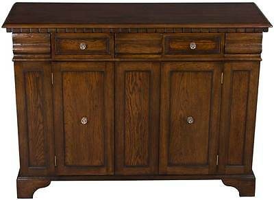 New Antique Style Large Oak Buffet Sideboard Credenza Cabinet Free Shipping!