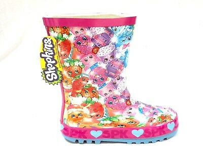 *Sale* Girls New Shopkins Rubber Wellies Welly Wellington Snow Boots Size 8 - 2
