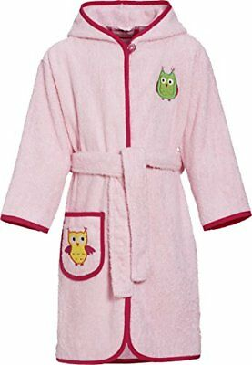 Rosa 86 PLAYSHOES FROTTEE-BADEMANTELLE MIT KAPUZE ACCAPPATOIO BAMBINA (TAGLIA