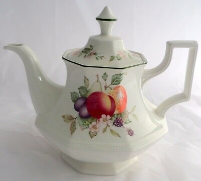 Johnson Brothers Fresh Fruit Teapot and Lid Made in England