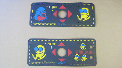 New Old Stock Pac Man Arcade Cocktail Control Panel overlays!