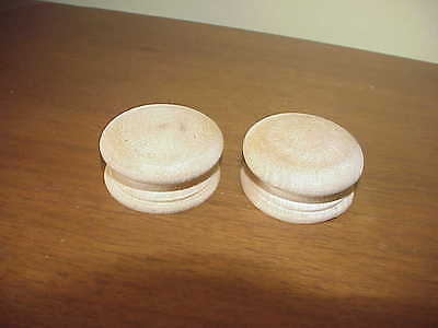 Antique style Maple Cabinet Drawer Pulls Knobs (Set of 2)