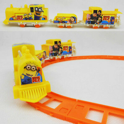 Minions Child Track Train Toy Girl Boy Puzzle Classic Track Car Educational gift