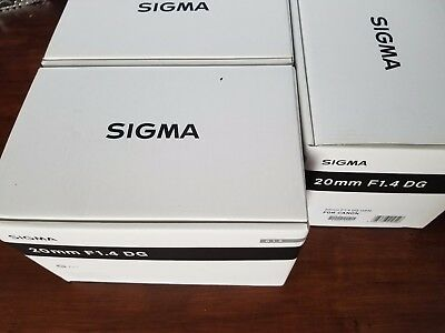 Sigma 20mm f/1.4 DG HSM Art Lens (for Canon) *NEW*