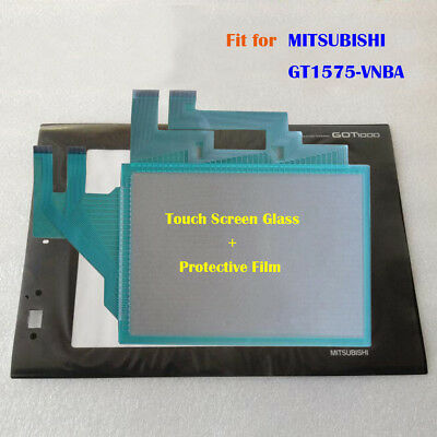for MITSUBISHI GT1575-VNBA, GT1575VNBA Touch Panel Glass with Protective Film