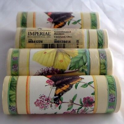 Marjolein Bastin Wallpaper Border Butterflies Flowers Imperial 4 Rolls x 5 Yards
