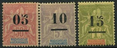 French Offices in Madagascar 1902 Yv. 48-50 MH 100% Madagascar