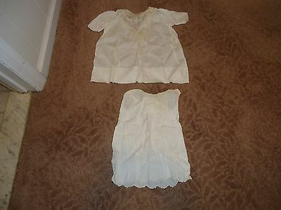 80+ Years Old ANTIQUE BAPTISMAL/CHRISTENING DRESS & SLIP - 6 Mo. few tiny stain