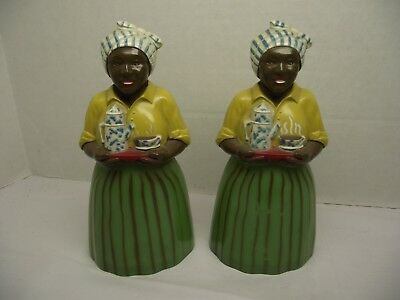 Vintage Lot of 2  F&F Plastic Luzianne~Salt & Pepper Shaker's  SEE No-Reserve !