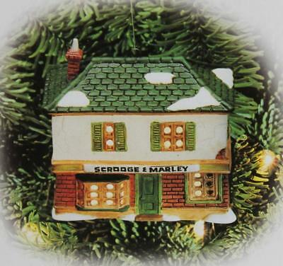 "Department Dept. 56 ""SCROOGE & MARLEY COUNTING HOUSE"" Light Up Ornament NIB"