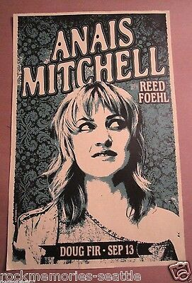 ANAIS MITCHELL w/ Reed Foehl 2014 Concert Show Gig Poster
