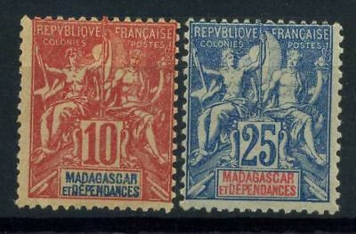 French Offices in Madagascar 1900 Yv. 43,45 MH 100%