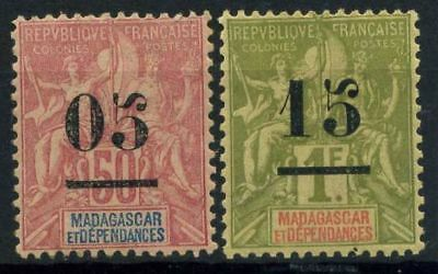 French Offices in Madagascar 1902 Yv. 48,50 MH 100%