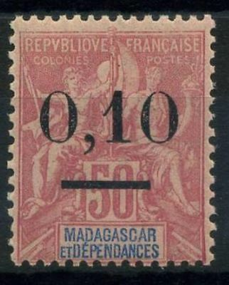 French Offices in Madagascar 1902 Yv. 53 MH 100% Surcharged