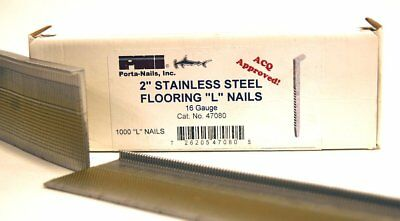 Porta-Nails 47080 16 Gauge 2-Inch Stainless Steel Flooring Nails 1,000 per Box