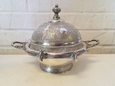 Simpson Hall Miller & Co. Quadruple Silver Plate Covered Butter Dish