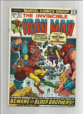 Iron Man #55 (Feb 1973, Marvel) First Appearance of Thanos Free Shipping