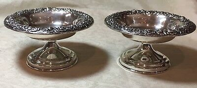 Antique Sterling 925 Kirk And Son Pair Of Repousse Dishes, Dish, Old Marks 1800s