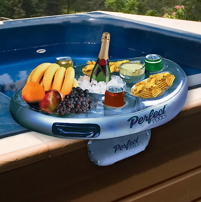 Inflatable Spa Bar - Floating Hot Tub Side Tray/Holder for Drinks & Snacks