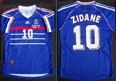 Maillot Coupe du Monde 98 - Taille L - NEUF ! Football FRANCE BRESIL 1998 ZIDANE