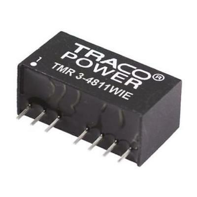 1 x TRACOPOWER Through Hole 3W Isolated DC-DC Converter, Vin 36-75V dc