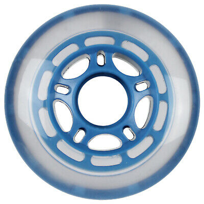 50b76fc3e64 Roller Hockey Replacement Wheel Indoor 68mm 78A Soft Inline Skate Clear Blue