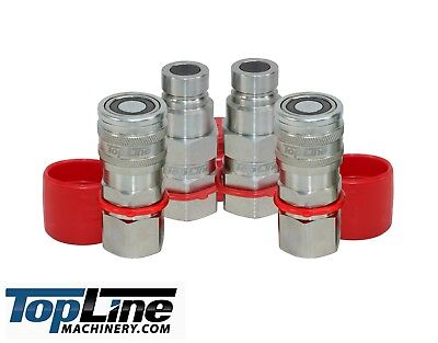 TL30 3/4 NPT Thread Flat Face Hydraulic Quick Connect Coupler Coupling (2 SETS)