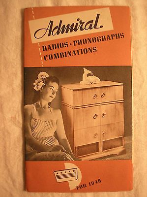 Vintage 1946 Admiral Corp. Radio - Phonographs Combinations Brochure