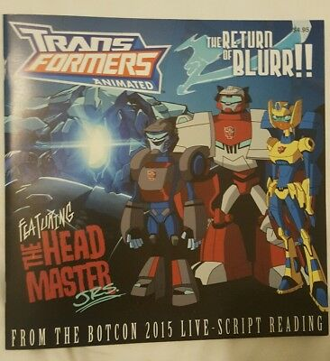 Transformers Animated Botcon The Return of Blurr Comic
