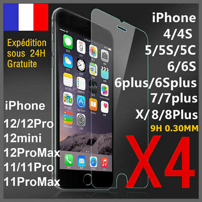 iPhone 8 7 6s 6 PLUS XR X XS MAX 5S SE vitre protection verre trempé film écran