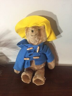 "Paddington Bear Eden Plush Stuffed Toys Yellow Hat Blue Coat 19"" EUC"