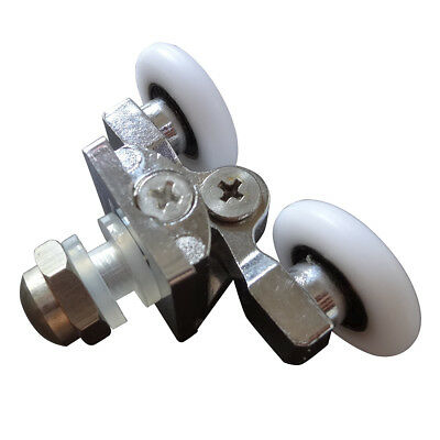 SS round arc Double pulley Bathroom doors Swing wheel 23 mm