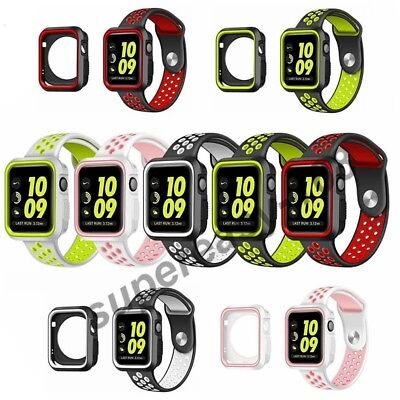 Soft Silicone Sport Replacement Strap Band For Apple Watch 42mm/38mm iWatch