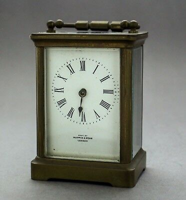 Antique French brass carriage clock mantlepiece Richard et Cie - Mappin & Webb