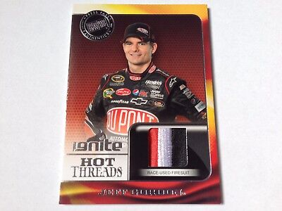 Jeff Gordon 2013 Press Pass Ignite Hot Threads 3cl Race Used Firesuit Card-Nasca