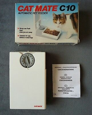 CAT MATE C10 AUTOMATIC TIMER SINGLE PET FEEDER. AA Battery Powered.