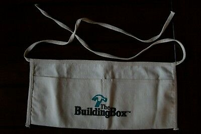White Canvas Tool / Nail Apron From The Building Box