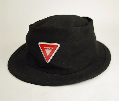 VINTAGE PEARL JAM ROCK BAND Black Canvas Bucket Hat - Festival Tour Memorabilia