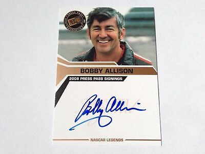 Bobby Allison 2008 Press Pass Signings on Card Autograph Auto Nascar