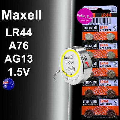 100~50~30~20~10x LR44 Genuine Maxell 0%Hg Battery A76/AG13 Button Cell Batteries
